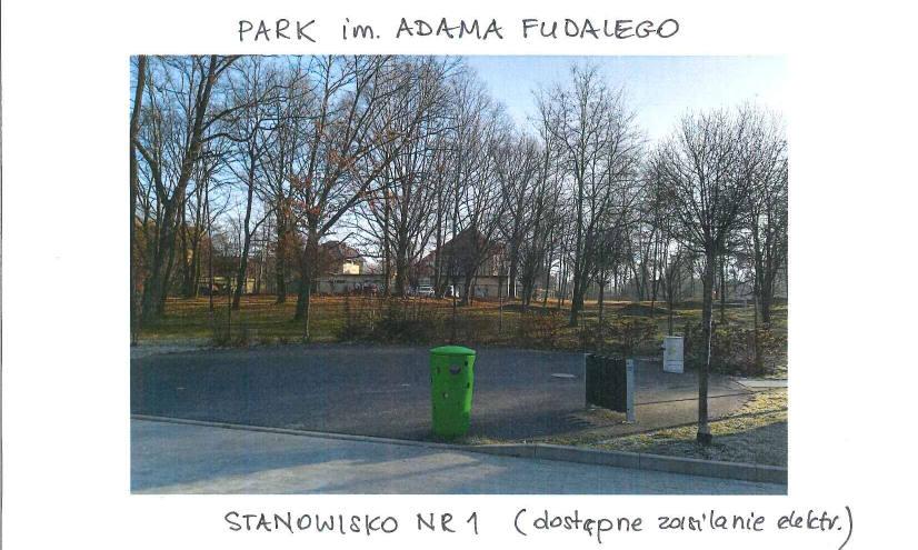 Park im. Adama Fudalego - stanowisko nr 1